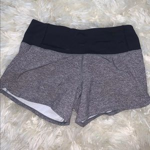 grey lululemon run times shorts